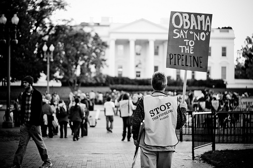 Obama delayed the Keystone XL pipeline after thousands protested