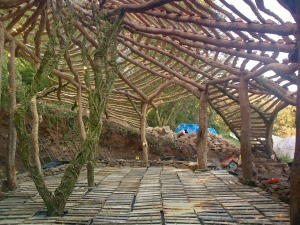 The Hobbit House, under construction